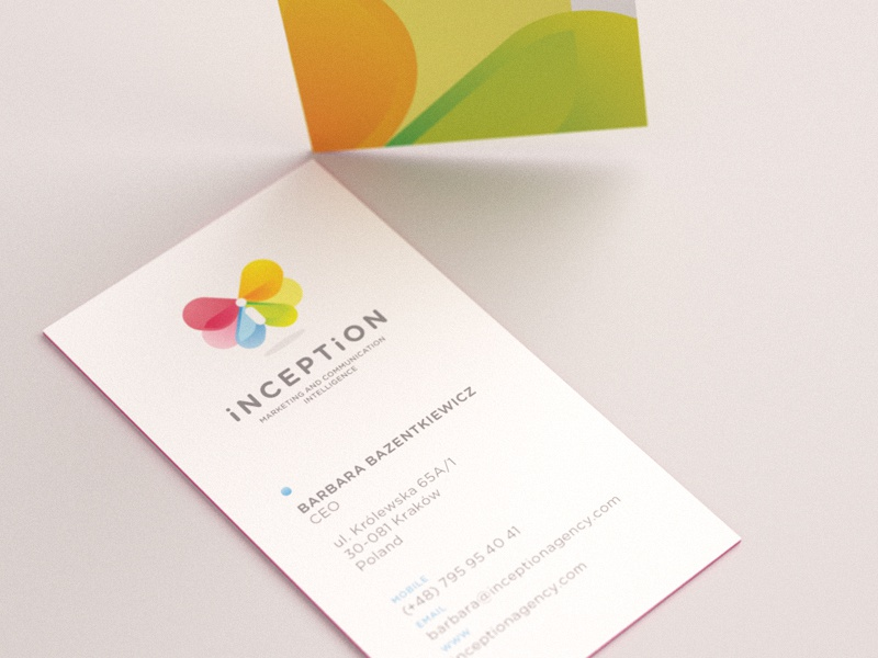 Inception business card business card butterfly vivid