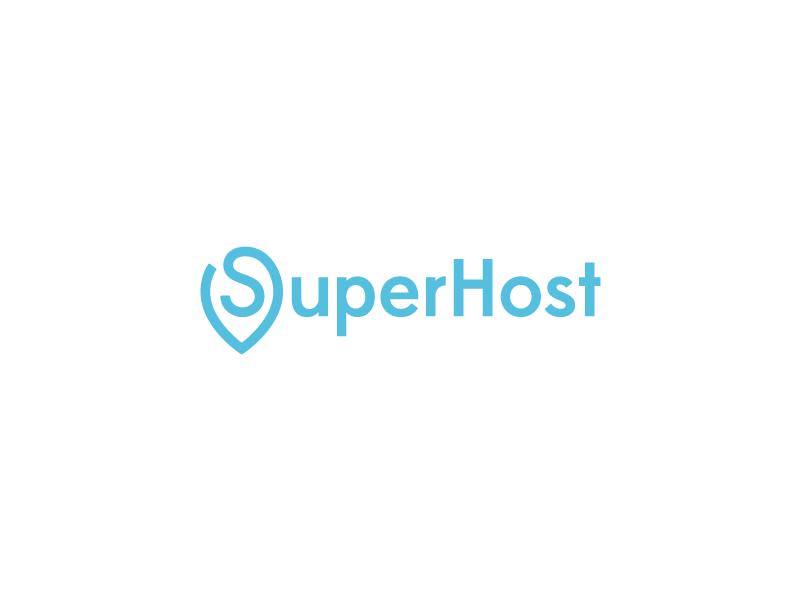 SuperHost design freelance logo super host pin