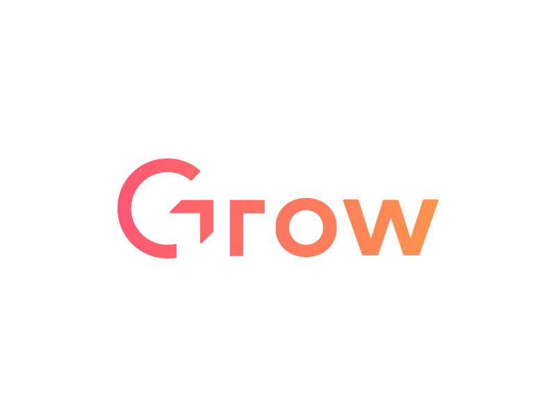 Grow design logo grow