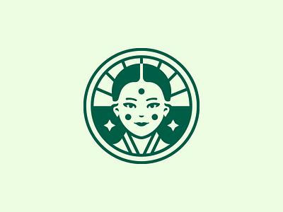 Face experiments vector illustration logo face