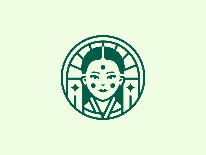 Face experiments vector illustration design face logo