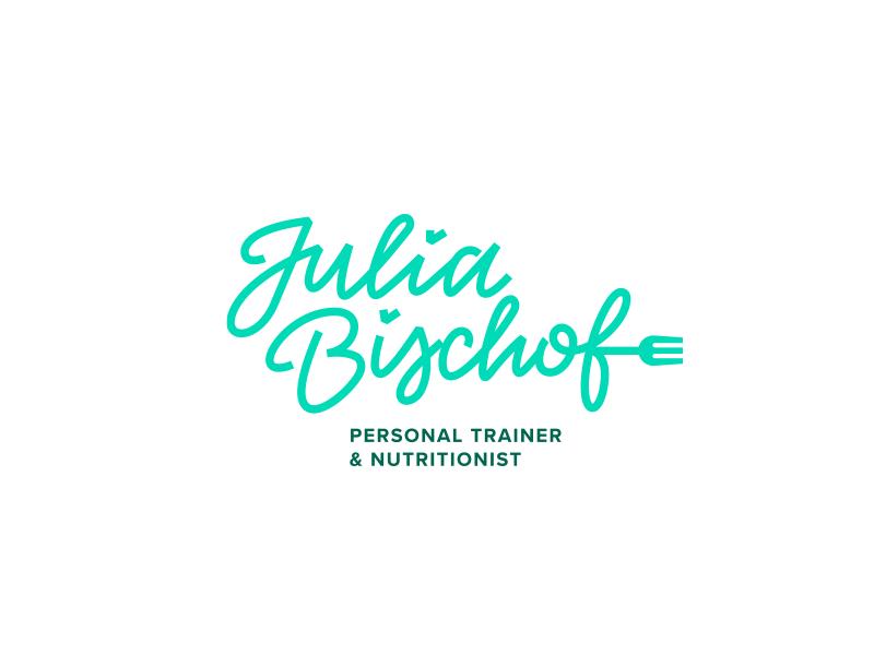 Julia Bischof Personal Trainer & Neutritionist trainer fit gym typography vector illustration design logo