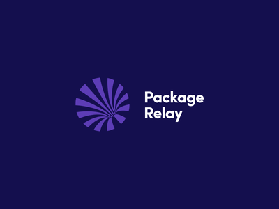 Package Relay vector illustration design symbol logo company logistic package
