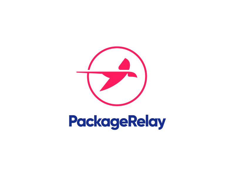 Package Relay icon branding vector typography illustration design logo