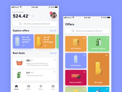 Coupons App ux ui app renders design coupons