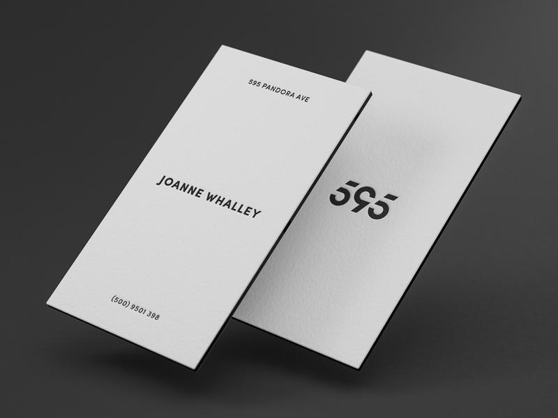 595 Pandora Avenue Business Card avenue 595 business card typography illustration vector branding monogram design logo