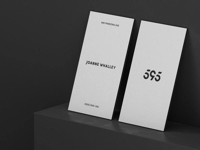 595 Pandora Avenue Business Card elegant business card typography monogram illustration vector design logo
