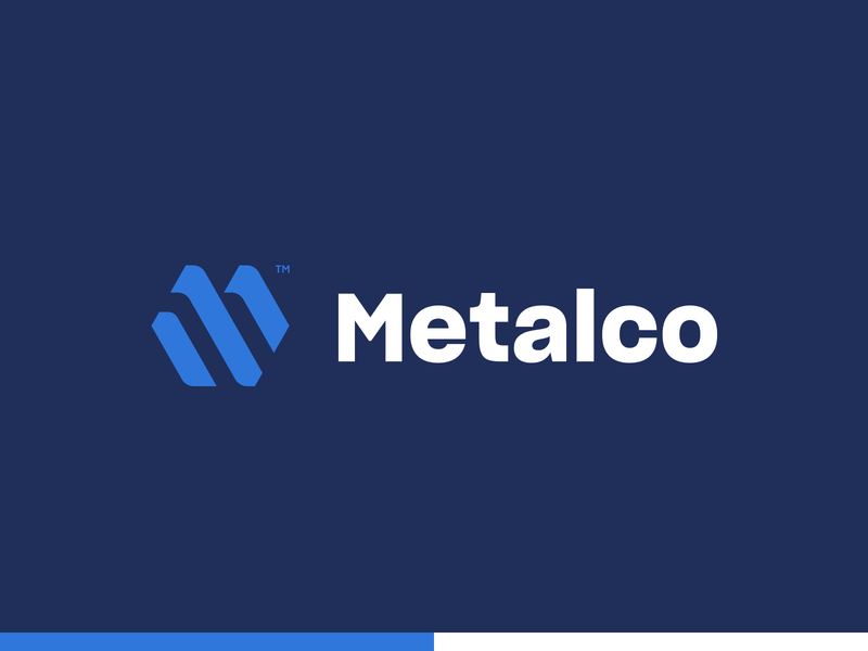 Metalco branding icon typography monogram vector design logo