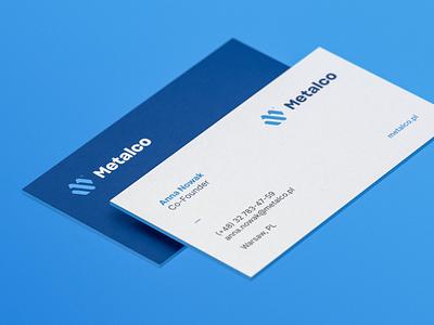 Metalco business cards business card design business card businesscards businesscard icon illustration vector monogram design logo branding