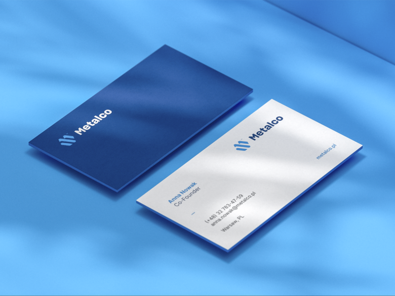 Metalco Business Cards brand and identity brand collateral business card businesscard typography branding monogram vector illustration design logo