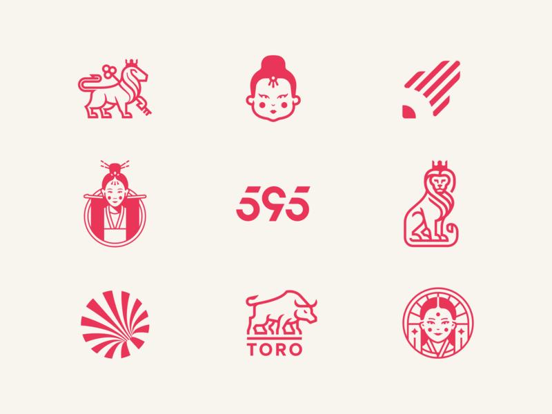 Logo Collection icon branding typography monogram vector illustration design logo