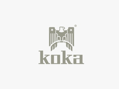 Koka Logo eagle t-shirt tees