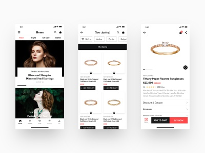 Luxury Jewelry E-commerce App design ux app e-commerce shop e-commerce jewelry store jewelry luxury design ui  ux design ui