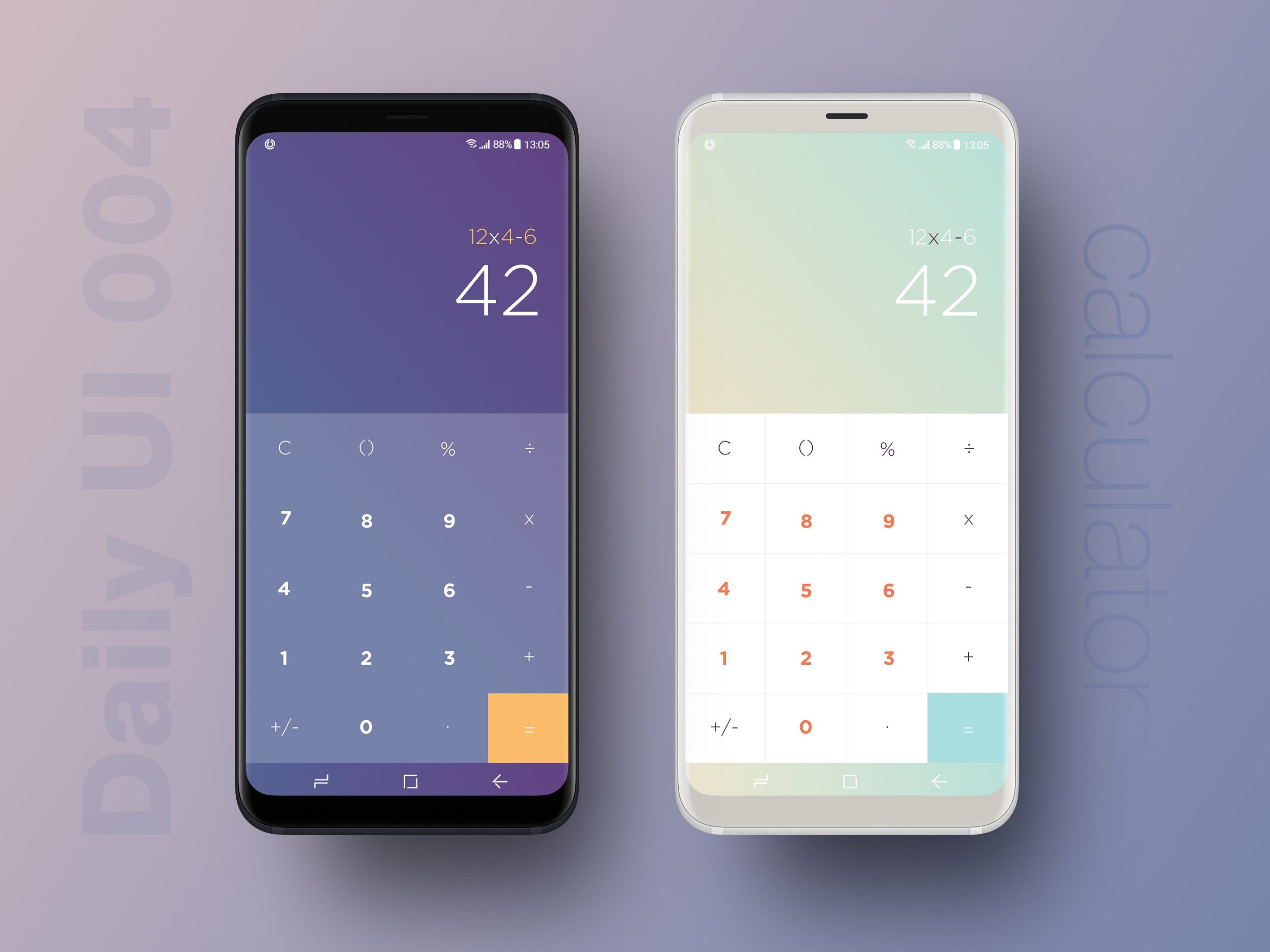 Daily ui 004   calculator mockup