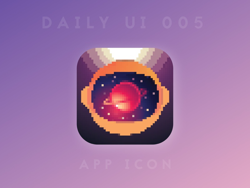 Daily UI 005 - App Icon stars astronaut space 8bit pixel art pixelart pixel appicons appicon app branding logo illustration challenge ui ux design daily ui dailyui 100daychallenge