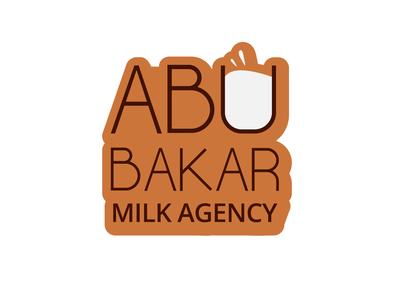 Logo for Abu Bakar Milk Agency illustrator adobe illustrator graphicdesign graphic  design brand designer logo designers brand design branding brand logo design branding logo mark logo designer logo design logo designs logodesign logos logo