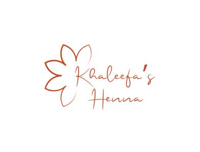 Logo for Khaleefa's Henna, a Henna designes on Instagram logo designer vector logo design illustrator logotype graphic  design adobe illustrator graphicdesign brand identity branding brand logo designing logodesign logos logo