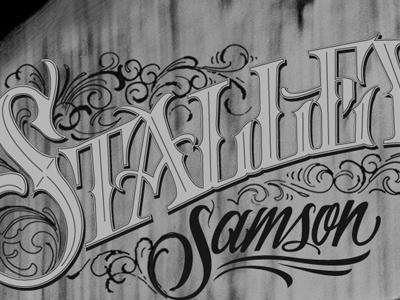Samson virgilio tzaj lettering wip type hand drawn