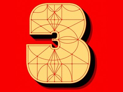 3 3d dropcap number 3 typefight illsutration typography type three