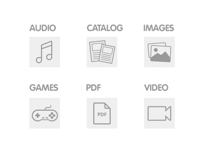 Category Icons icons vector audio catalog images games pdf video