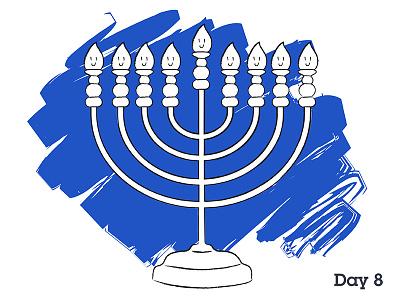 Happy Chanukah happy chanukah illustration illustrator menorah candles