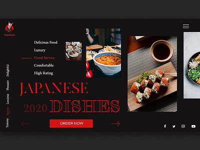 Japanese Restaurant design web webdesign ui japanese restaurant