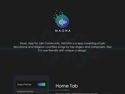 Magna - Music Android Mobile App UI/UX Design
