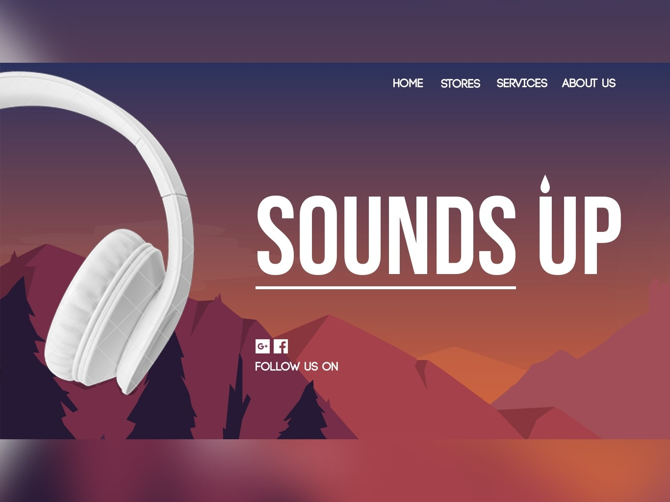 Sounds Up Web UI design web design photoshop illustrator prototype uidesign