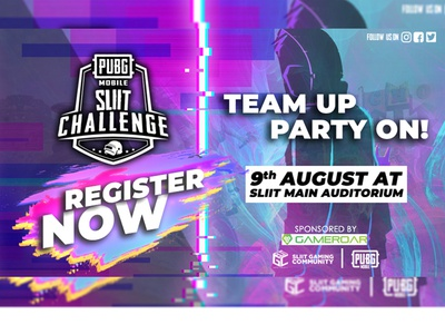 Team Up Party On pubg poster design
