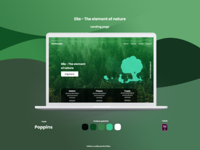 Ella-The element of nature  Landing Page UI