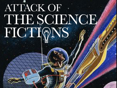 Science Fictions editorial feature art direction layout magazine science design branding