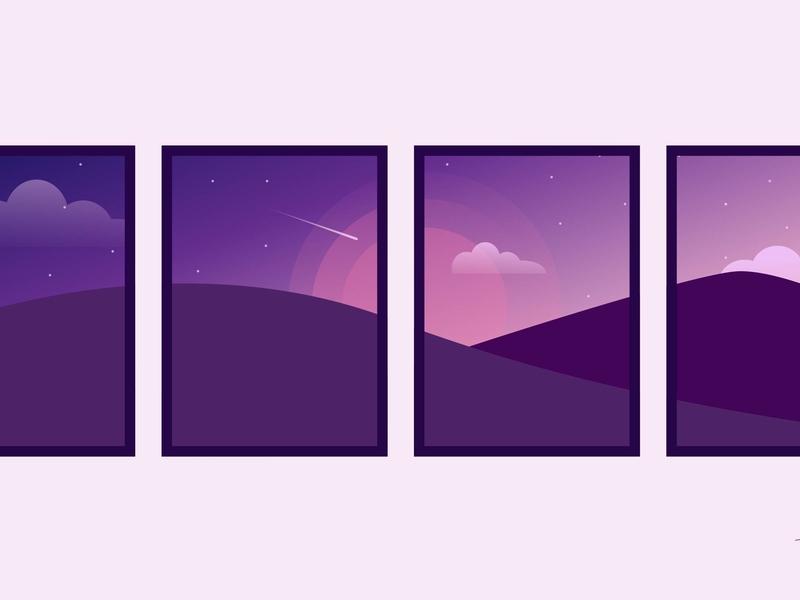 Minimalisme purple illustrator