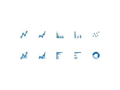 Chart Type Icons icons visualization charts data mongodb