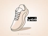 Sneakers lineart logo