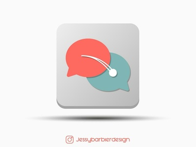 Messaging App Logo (Ping Pong)