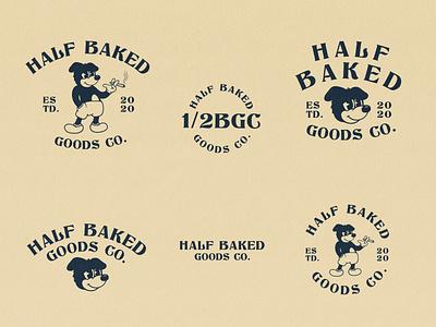 Half Baked vector stoned dog vintage logo logo branding character cartoon character cartoon vintage illustration