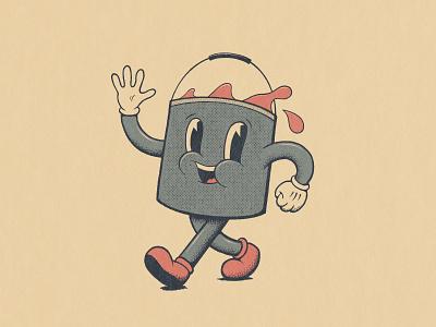 Mr Paint! icon vintage logo retro logo 1930s retro character cartoon character cartoon vintage illustration