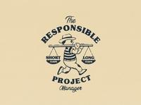 RPM Tee design vintage logo hand lettering character 1930s branding logo retro cartoon character cartoon vintage illustration
