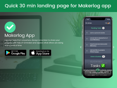 Simple Landing Page for App code html css landing web app landing page