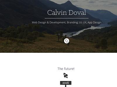 Beginning of a new portfolio web portfolio