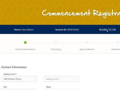 Commencement Registration redesign form education