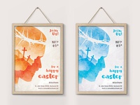 Easter Poster - Double Exposure Illustration