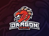 [Logo Mascot] Dragon - Speedart  design illustration vector mascot mythical creature manticore dragon logo