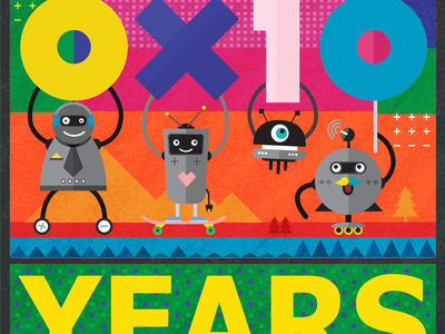 0x10 years poster.