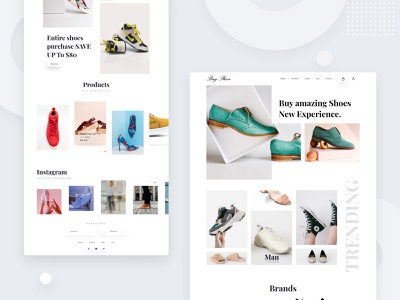 Shoes Landing Page typography branding web ui design e-commerce website ui ux dribbbble creative design design shoes landing page landing page concept