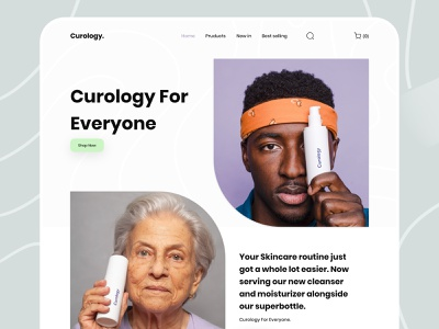 Curology. curology website design curology website design 2020 trends typography graphic design e-commerce website creative design ui ux dribbbble 2020 trend design landing page curology. curology. landing page concept