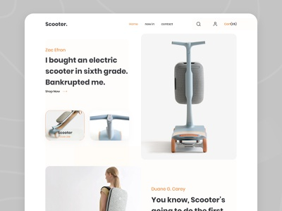 Scooter Product 2020 trends scooter product website scooter product website product design web ui design dribbbble e-commerce website ui ux 2020 trend design landing page scooter product scooter product typography creative design landing page concept