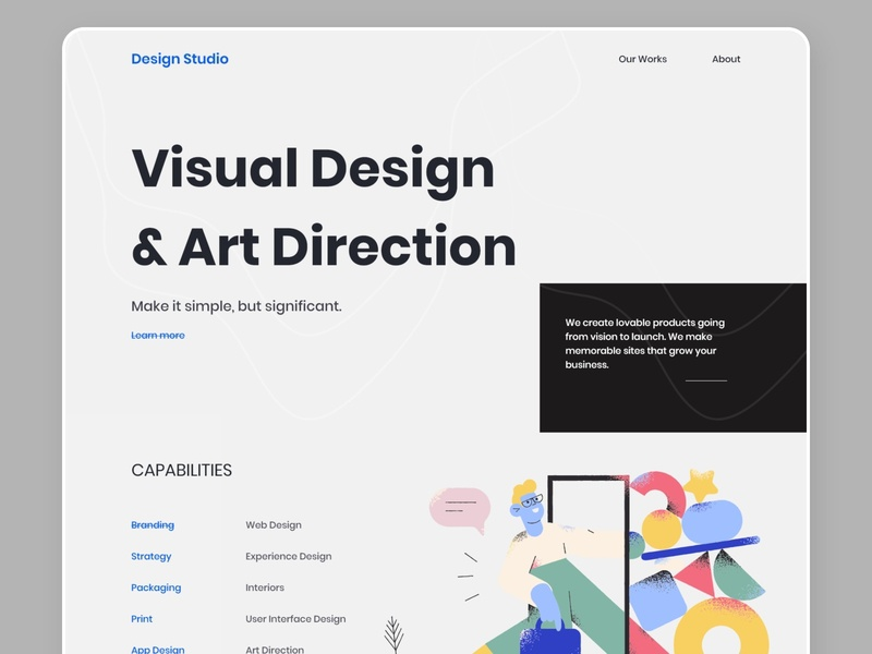 Design Agency Landing Page V3 designs agency website graphic design illustration branding e-commerce website landing page creative design dribbbble design landing page concept design agency