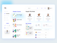 Education Platform Dashboard deshboard admin panel 2020 trend graphic design illustration branding typography ui ux creative design dribbbble design education platform dashboard education platform dashboard