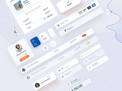 UI Elements/Components/UI Kits figmadesign free download freebie ui kit design user experience web design 2020 trends designs card uiux design ui elements